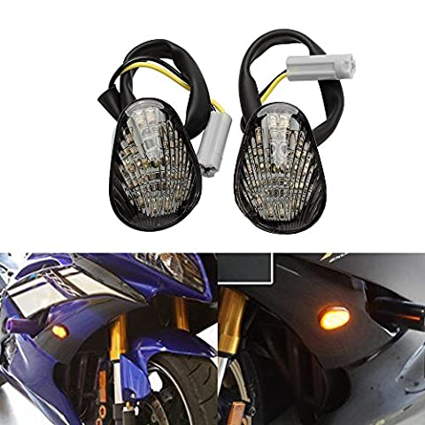2 PCS ARMSKY LED Turn Signal Indicator Light Lamp Flush Mount For Yamaha YZF R1 R6 R6S Smoke - Yamaha Yzf R1 Led