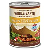 Whole Earth Farms Grain Free All Breed All Life Stages Wet Dog Food Hearty Chicken Stew (12) 12.7 oz Cans (Color: (12) 12.7 oz Cans, Tamaño: (12) 12.7 oz Cans)