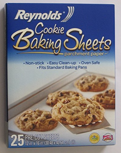 (Reynolds Cookie Baking Sheets Non-stick Parchment Paper 2-pack (25 Count Each) (2))