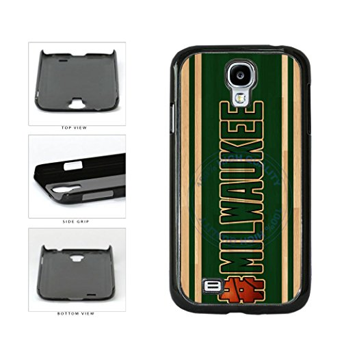 BleuReign(TM) Basketball Team Hashtag Milwaukee #Milwaukee Plastic Phone Case Back Cover For Samsung Galaxy S4 I9500 (Brewers Samsung Galaxy S4 Case)