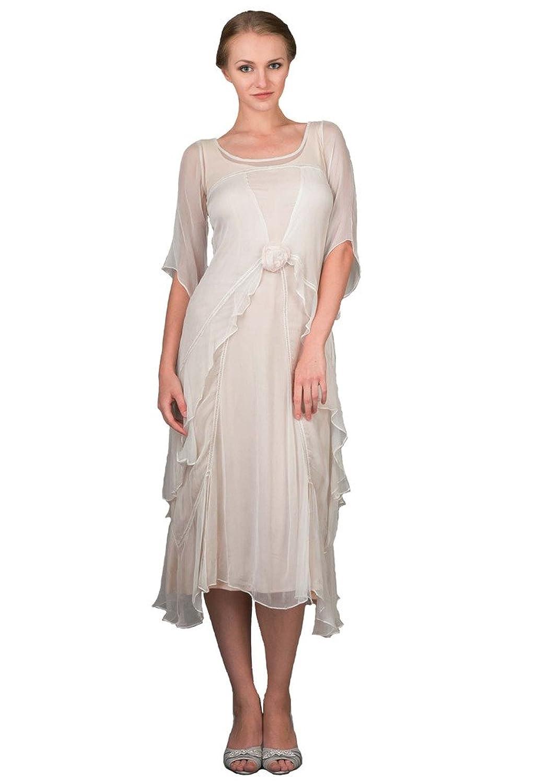 Nataya 40007 Women\'s Titanic Vintage Style Wedding Dress in Ivory at ...