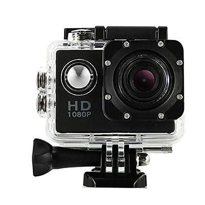 DanCoTech Action Camera with Waterproof casing 1080P FHD Sports DV Recording (Black)