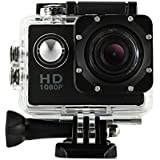 DanCoTech Action Camera with Waterproof casing 1080P FHD Sports DV Recording (Black)