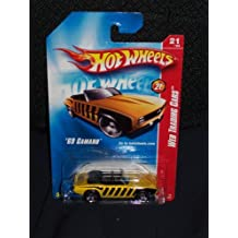 Hot Wheels 2008 097 97 Web Trading Cars # 21 of 24 '69 Camaro Yellow with Black Stripes on PR5's 1:64 Scale