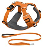 RUFFWEAR 2017 FRONT RANGE DOG HARNESS AND LEASH COMBO ♦ ALL DAY TRAINING ADJUSTABLE ADVENTURE HARNESS ♦ ALL SIZES AND COLORS (XS, Orange Poppy)
