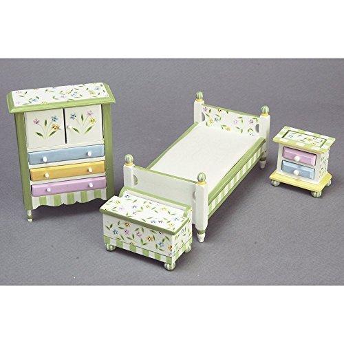 Springtime Bedroom Dollhouse Miniature Set