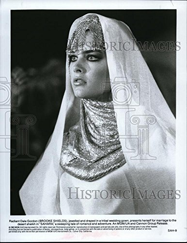 1984 Press Photo Brooke Shields as Dale Gordon in Sahara - cvp40077 - 10.25 x 8 in. - Historic Images (Brooke With Sahara Shields)