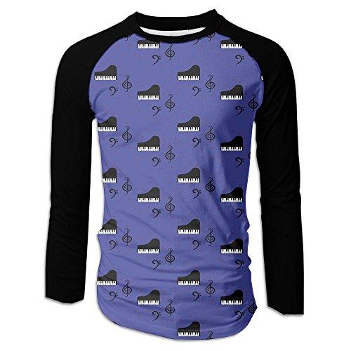 Piano Keys Black Men's Raglan Baseball T-Shirts Long Sleeve Baseball Tees - Versace Mens Hat