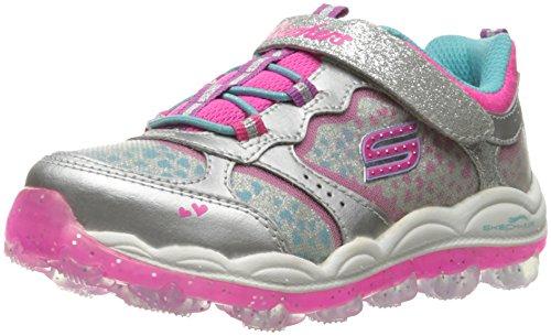 Skechers Kids Girls' Skech-Air Stardust Running Shoe, Stardust Silver, 7 M US (Stardust Girl)