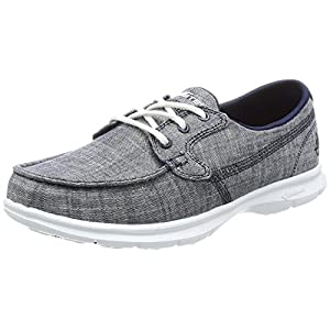 Skechers Performance Women's Go Step-Marina Boating Shoe, Navy Marina, 9 M US