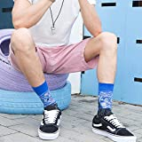 WeciBor Men's Colorful Funny Novelty Crazy Combed
