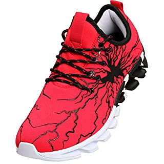 BRONAX Shoes for Big Boys Kids Tennis Athletic Casual Size 3 Snikers Running Shoes Sneakers for Youth Childrens Red