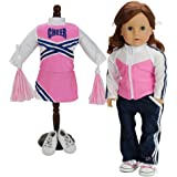 18 Inch Doll Cheerleader Sports 5 Pc. Set. Doll Clothing Fits 18 Inch American Girl Doll