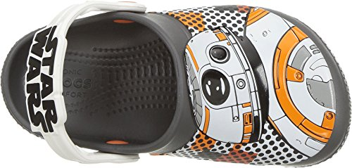 Image of Crocs Boys' Crocsfunlab BB-8 Clog, Graphite, 6 M US Toddler