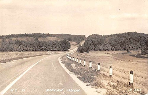 Beulah Michigan US Highway 31 Real Photo Antique Postcard - Us Highway 31