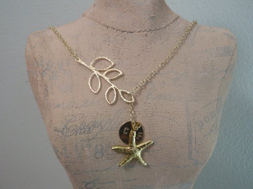 each Wedding, Starfish, 14K Gold Filled Necklace, Hand Stamped, Personalized Necklac