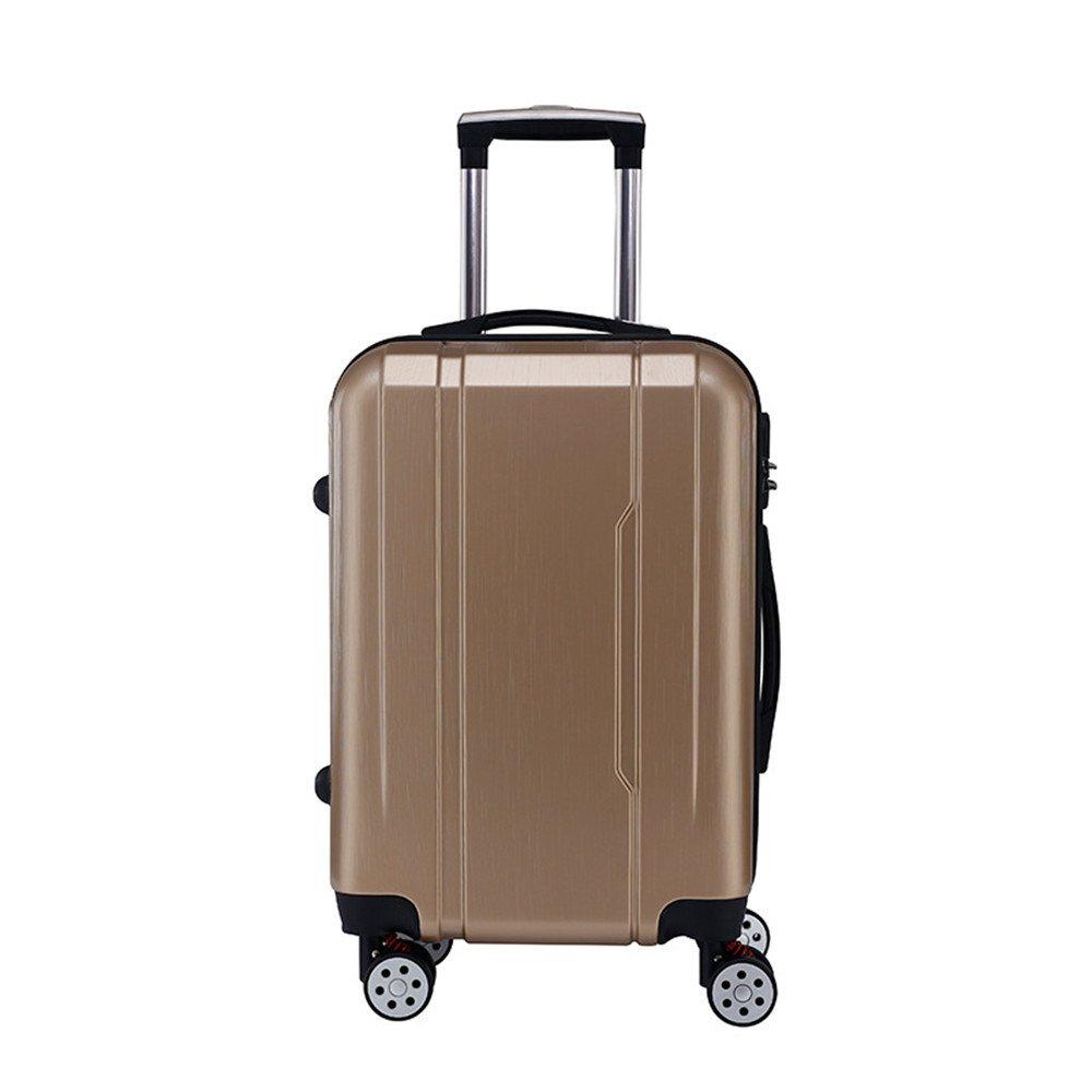 軽量スーツケース 防水性と耐摩耗性のPCトロリーケース新しい男性と女性のスーツケーススーツケース24インチ登録ロックボックス 旅行スーツケース   B07R5SLN75