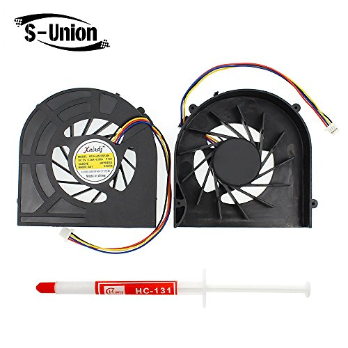 Generic New Notebook CPU Cooling Fan for HP 4520s 4525s 4720S Series Replacement Part Number GC057514VH-A MF60120V1-Q020-S9A with Thermal Paste