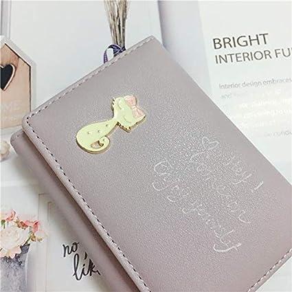 YOIOY Envelope Clutch Bag Wallet Female Short Paragraph New snap Korean Version of The Mini Cute Small Fresh Student Purse Wallet Wallet Tide Color : Black Color : Purple