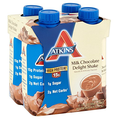 Atkins Ready To Drink Shake, Milk Chocolate Delight, 11 Ounce (Pack of 24)