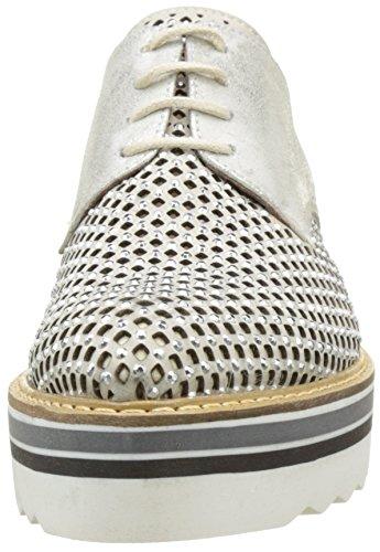 Donna Piu 52665 Ruby, Zapatos de Cordones Derby para Mujer Argent (Nabuk Ghiaccio/Sun Osso)