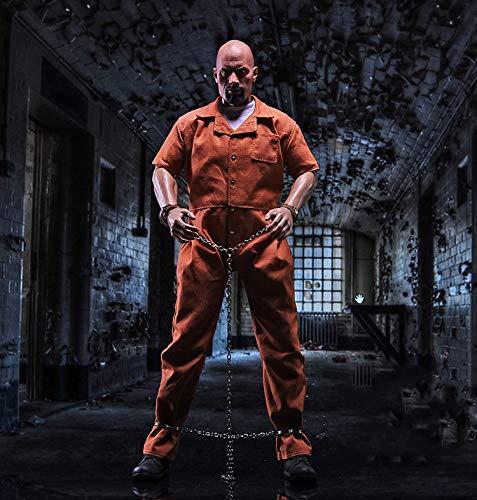 FacaiFacai Figure Accessories 1/6 Orange Prison Jumpsuit Clothes Sets 1:6 Figure Prisoner's Garb Clothing Sets Fit for 12