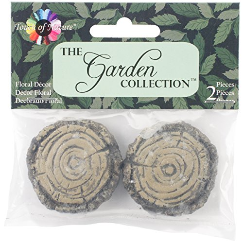 Touch of Nature 2-Piece Miniature Garden Faux Wood Stepping Stones, 1.5-Inch - Faux Stepping Stones
