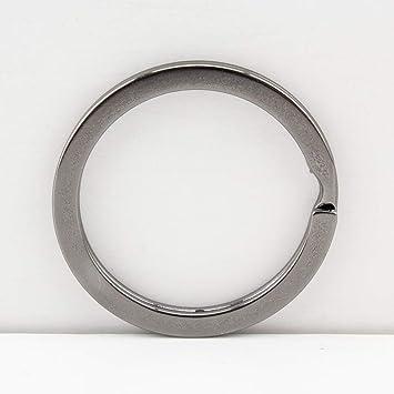 Llavero redondo de hierro dividido para hacer monederos, manualidades, llaves de coche en casa