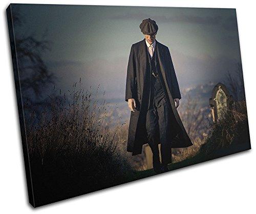Bold Bloc Design - Peaky Blinders Television Show TV 45x30cm SINGLE Canvas Art Print Box Cuadro enmarcado Colgante de pared - Hecho a mano en el Reino Unido - Enmarcado y listo para colgar 13-2492 (00B) -SG32-LO-A