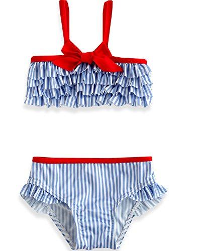 Vaenait Baby 1-7Y Girls Tankini Swimsuit without Cap Frill Girl Sky 12-24M