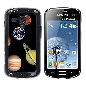 Be Good Phone Accessory // Dura Cáscara cubierta Protectora Caso Carcasa Funda de Protección para Samsung Galaxy S Duos S7562 // Space Planet Galaxy Stars 6