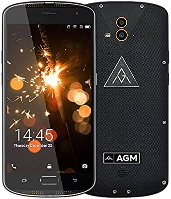 "AGM X1 Smartphone 4G IP68 Impermeable Antigolpes Anti-Polvo 4GB & 64GB Qualcomm MSM8952 Octa Core Batería 5400mAh 5,5"" AMOLED 1920 x 1080 FHD 13MP Dual Cámara Trasera & 5MP Cámara Frontal, Negro:"
