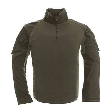 66b050504fcb MANSKIO Combat Tactical Military Men Long Sleeve Hunt T-Shirts | Amazon.com