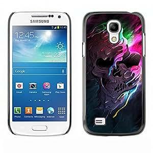 EJOY---Cubierta de la caja de protección la piel dura para el ** Samsung Galaxy S4 Mini i9190 ** --Melting cráneo Colores
