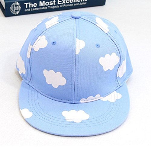Sport Cap, HP95(TM) Concert Baseball Cap HipHop Style Snapback Hat with Printed Cloud (Blue)