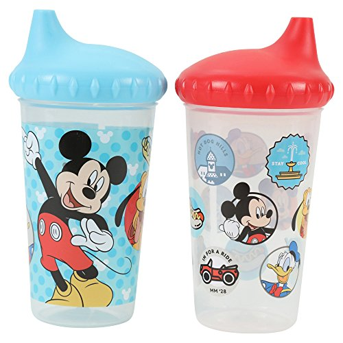 Disney Mickey Mouse Slim Sippy Cup, Multi, 2 Count