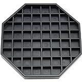 """Great credentials Coffee Countertop Octagon Drip Tray - 6"""" Black"""