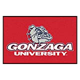 FANMATS NCAA Gonzaga University Bulldogs Nylon Face Starter Rug