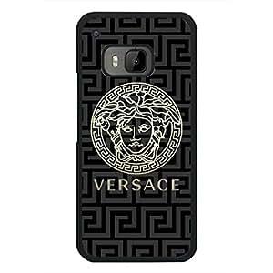 Lucky Case Versace Phone Case For Htc One M9 Custom Unique Design Luxury Versace Logo Black Hard Phone Case