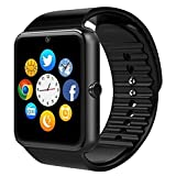 GT08 Smart Watch Bluetooth Smart Watch with Camera/Pedometer Analysis/Sleep Monitoring for Android (Full Functions) and IOS (Partial Functions)(balck)