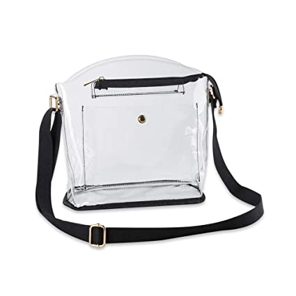 fee14f6c1d41 Women Clear Crossbody Bag - NFL Football Games, NCAA, PGA, Concerts Stadium  Approved Shoulder Handbag - Transparent See Through Plastic PVC Purse ...