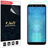 J&D [8-Pack] Galaxy A6 Plus 2018 Screen Protector, [Not Full Coverage] Premium HD Clear Film Shield Screen Protector for Samsung Galaxy A6 Plus (Release in 2018) – [Not for Galaxy A6 2018]