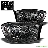08 dodge ram smoked headlights - Smoked 2006-2008 Dodge Ram Twin Halo LED Projector Headlights Smoke Head Lights Lamp Pair Left+Right 2007