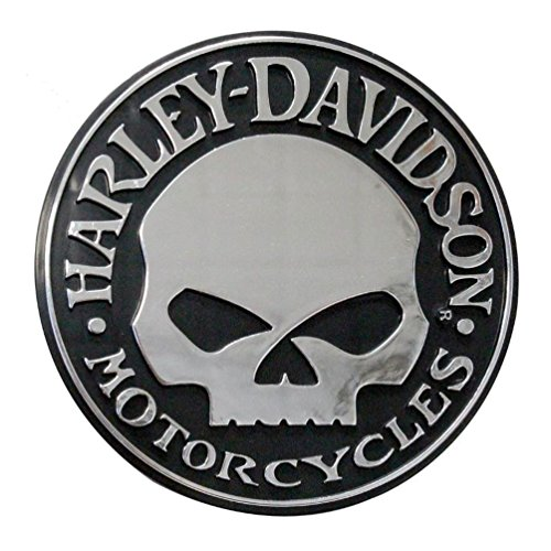 Chroma 009113 Harley-Davidson Skull Chrome ABS Decal