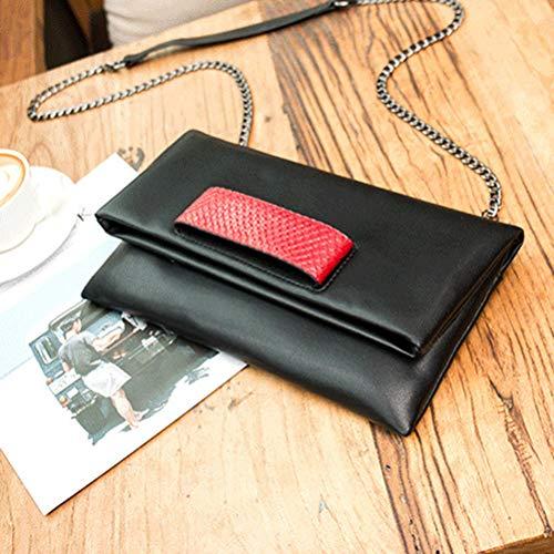 Cuir À Sac Sac blackred avec Sac Sac Femmes Grande Souple Bag Chaine Enveloppe Pochette D'épaule Gshe Bandoulière Main Capacité YXpU57q