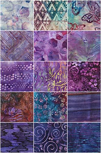 Azul Naturaleza Algae 100/% algod/ón Col Batik Fat Quarter Bundle Tela de Batik para Patchwork Patchwork Republic 15 piezas de 45 x 55 cm
