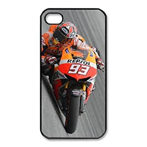 Personalized Durable Cases Mohbd iPhone 4,4S Black Phone Case Marc Marquez Protection Cover
