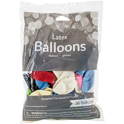 Balloons Round 36 Pkg Assorted Colors