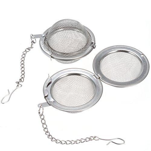 Tea Ball Strainers Premium Tea, & Spice Balls Fine Mesh Stainless Steel Tea Strainer Filters Tea Interval Diffuser (6)