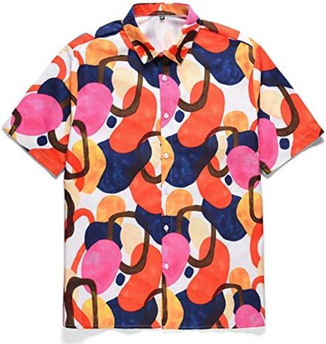 メンズ アロハシャツ おしゃれ プリント カラフル 速乾 開襟シャツ カジュアル